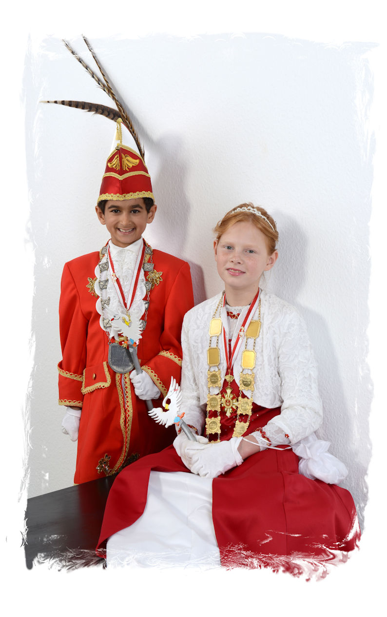 Kinderprinzenpaar 2015-16 Prinz Ates I. und Prinzessin Diana I.