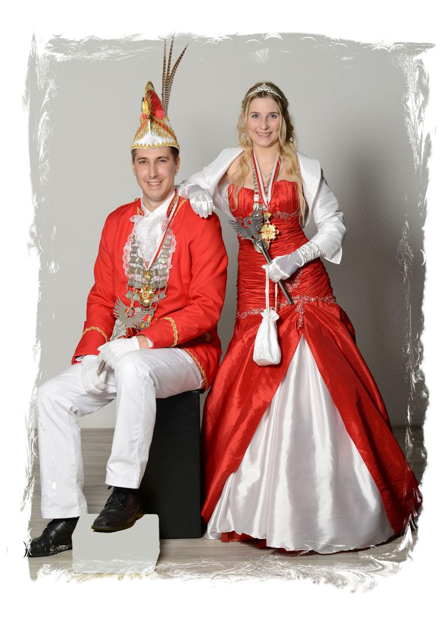 Prinzenpaar 2015-16 Prinz Tim I.und Prinzessin Melina I.